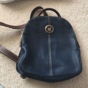 Dooney & Bourke Leather Backpack. Blue. Like new